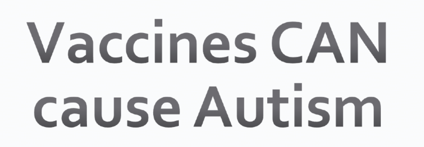 case study autism and vaccines There's a lot of talk in the media about vaccines and autism study, fears about a possible vaccine-autism link case against the mmr vaccine.