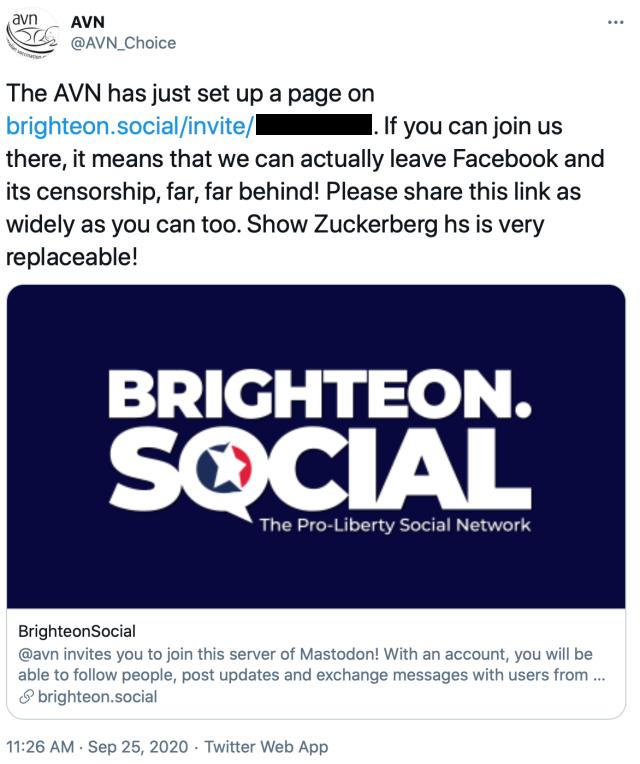 avn tweet brighteon